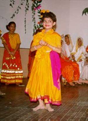 As Krishna in Janmashthami, Upkar 1999